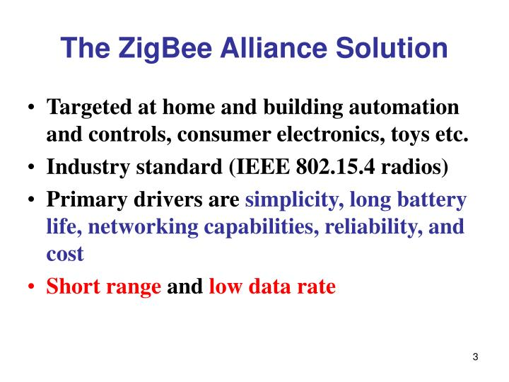 The zigbee alliance solution