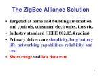 the zigbee alliance solution