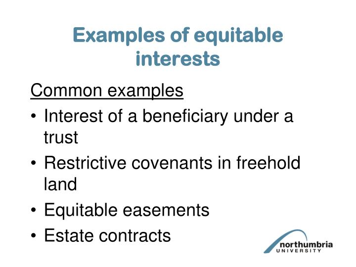 Examples of equitable interests