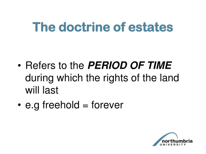 The doctrine of estates