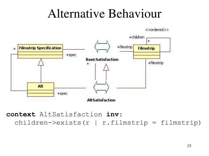 Alternative Behaviour