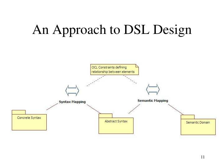 An Approach to DSL Design