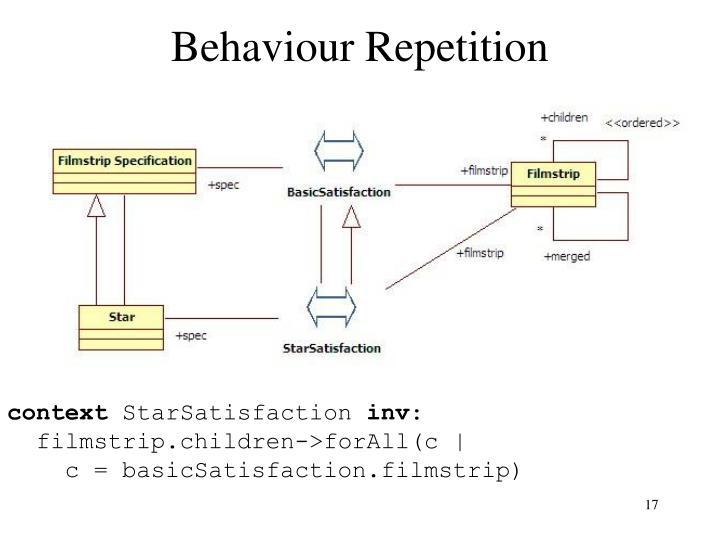 Behaviour Repetition