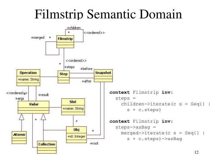 Filmstrip Semantic Domain