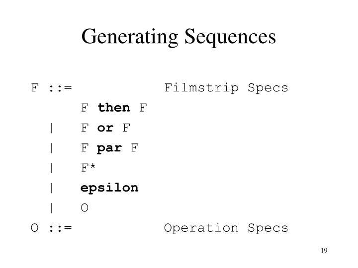 Generating Sequences