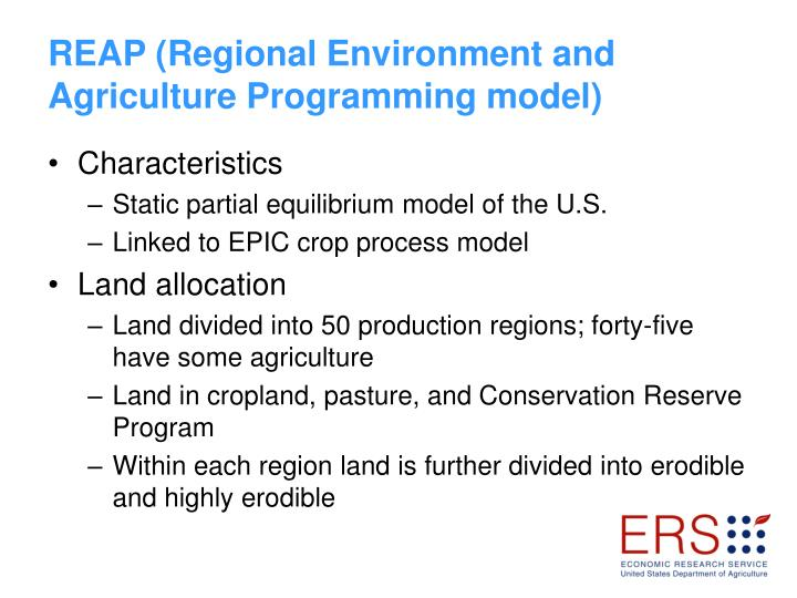 REAP (Regional Environment and Agriculture Programming model)