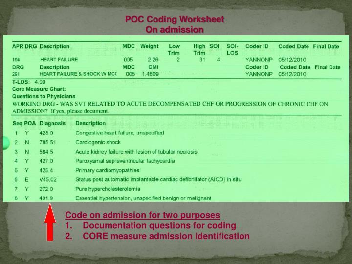POC Coding Worksheet