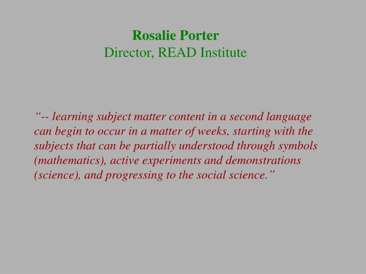 Rosalie Porter