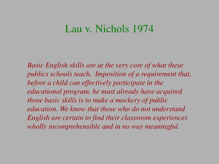 Lau v. Nichols 1974