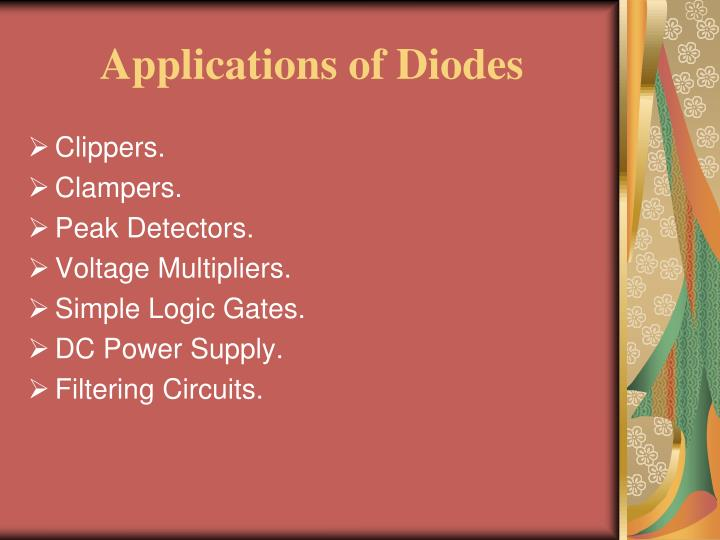Applications of Diodes