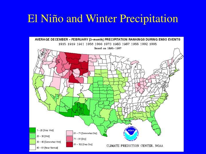 El Niño and Winter Precipitation