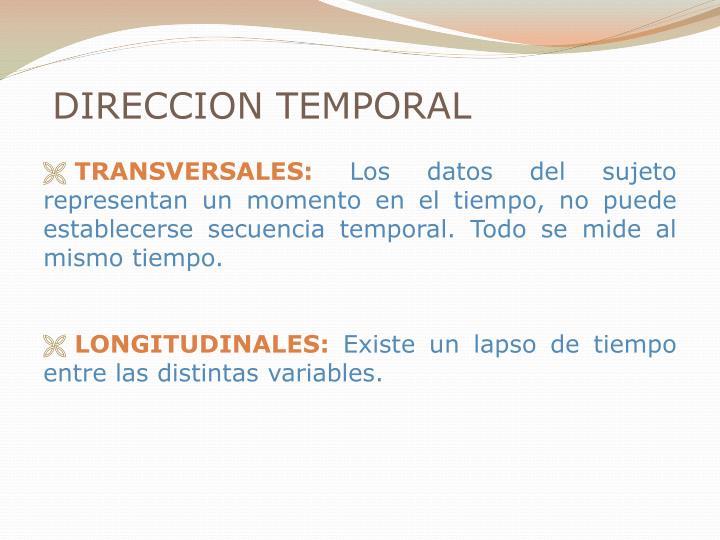 DIRECCION TEMPORAL