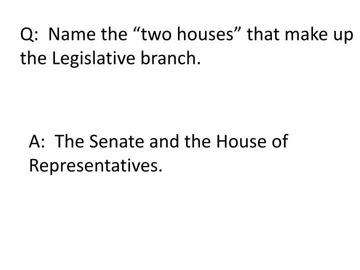 Q:  Name the