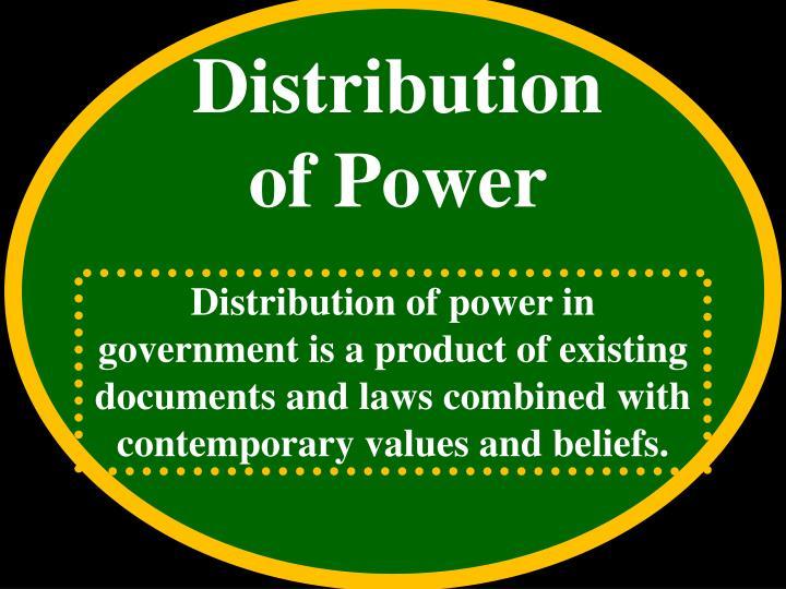 Distribution  of Power