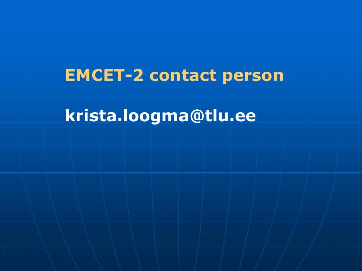 EMCET-2 contact person