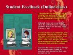 student feedback online class