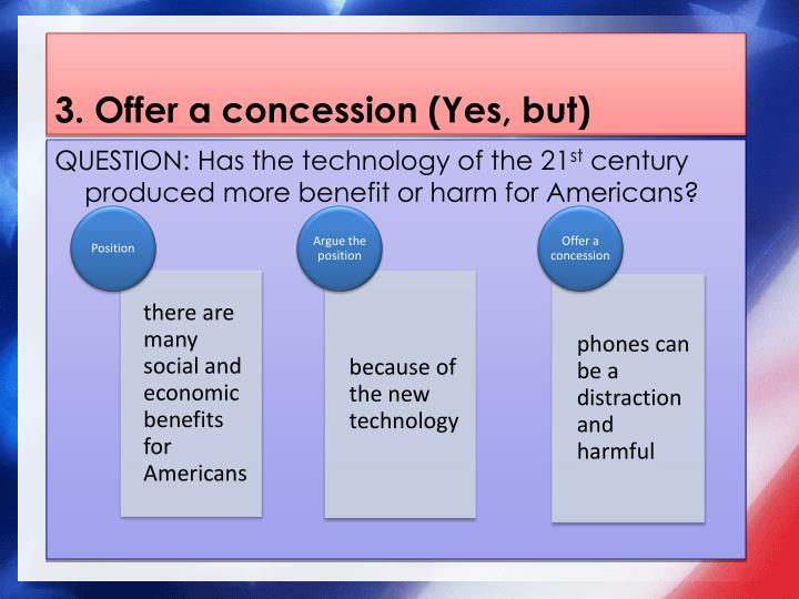 3. Offer a concession (Yes, but)