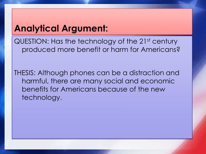 Analytical Argument: