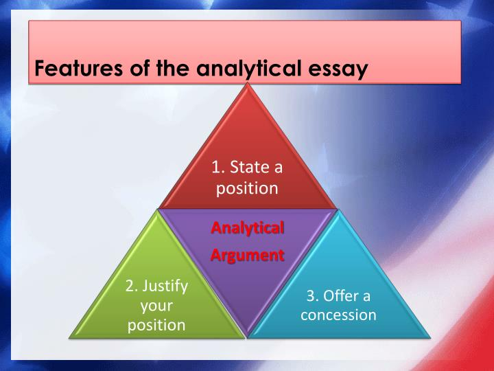 Features of the analytical essay