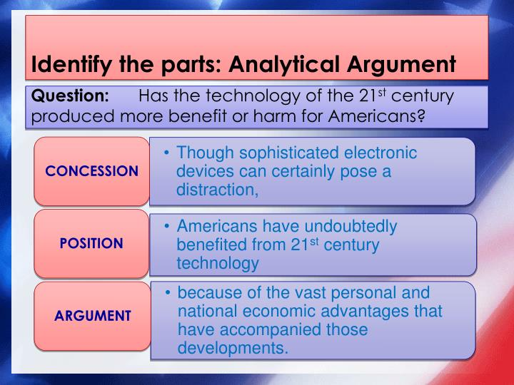 Identify the parts: Analytical Argument