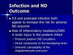 infection and nd outcome