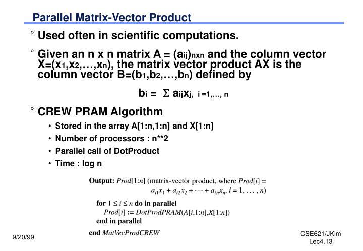 Parallel Matrix-Vector Product