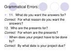 grammatical errors