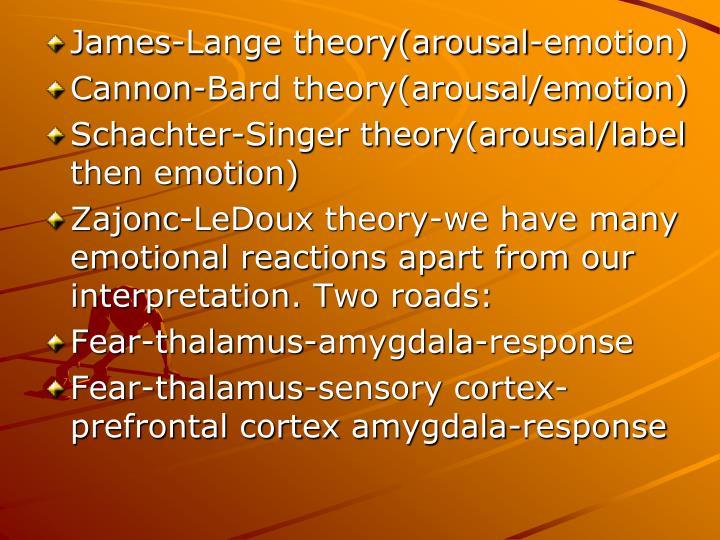 James-Lange theory(arousal-emotion)