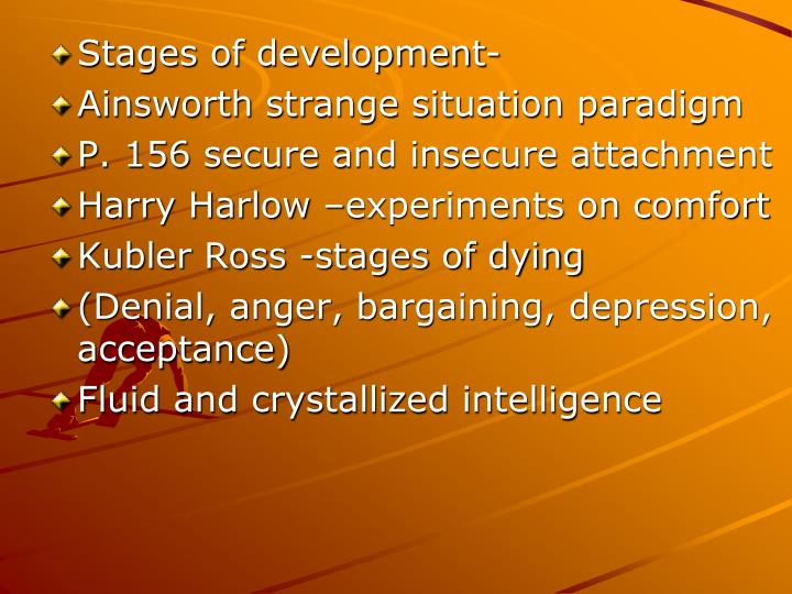 Stages of development-