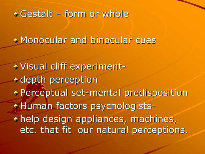 Gestalt – form or whole