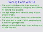 framing floors with tji
