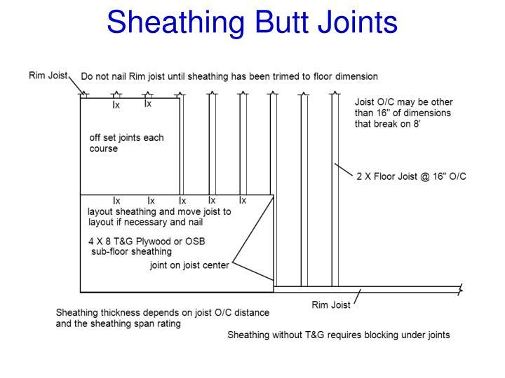 Sheathing Butt Joints