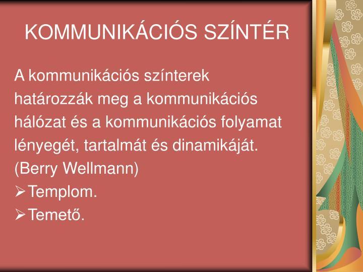 KOMMUNIKÁCIÓS SZÍNTÉR