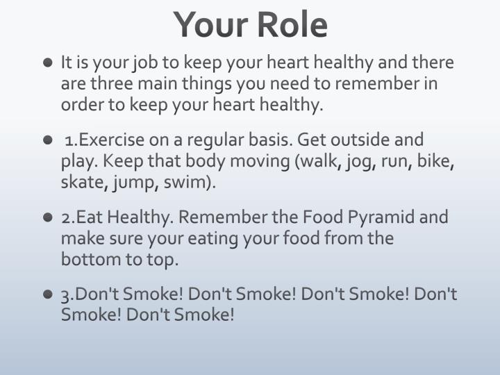 Your Role