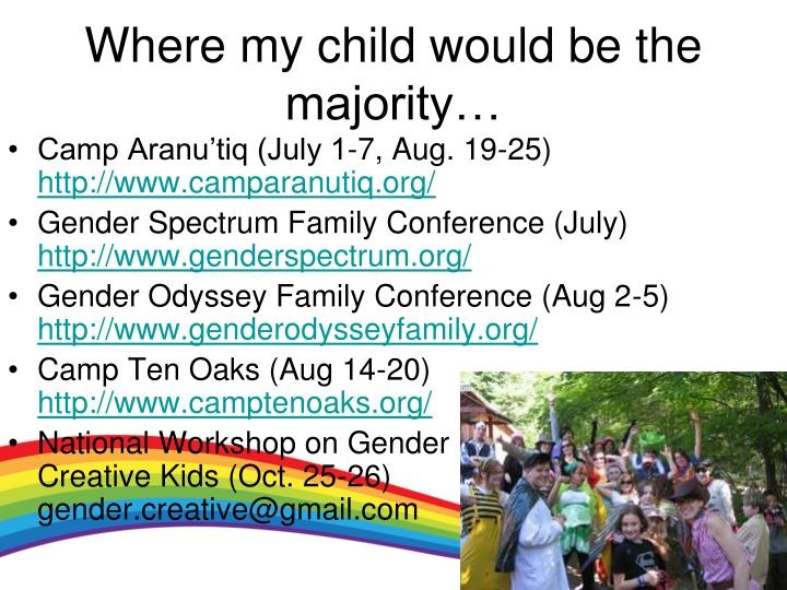 Where my child would be the majority…