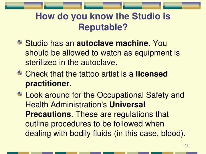 How do you know the Studio is Reputable?