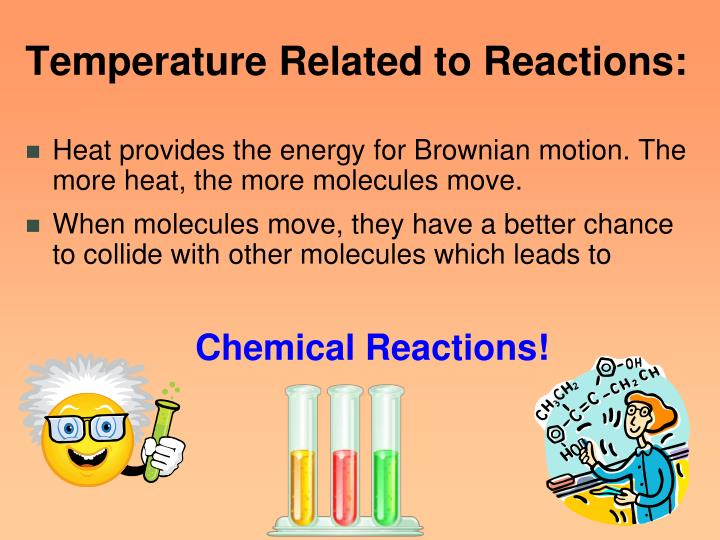 Temperature Related to Reactions: