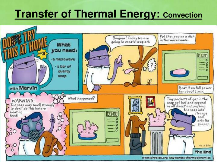 Transfer of Thermal Energy: