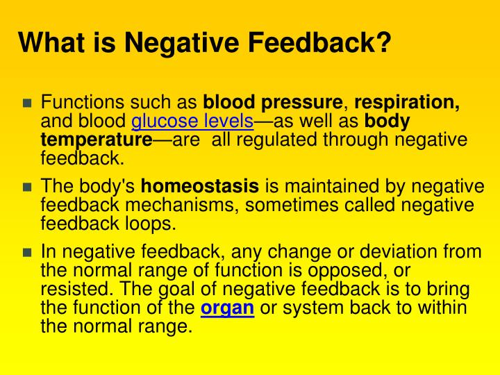 What is Negative Feedback?
