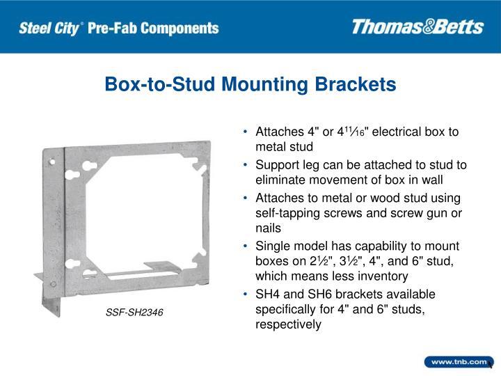 Box-to-Stud Mounting Brackets