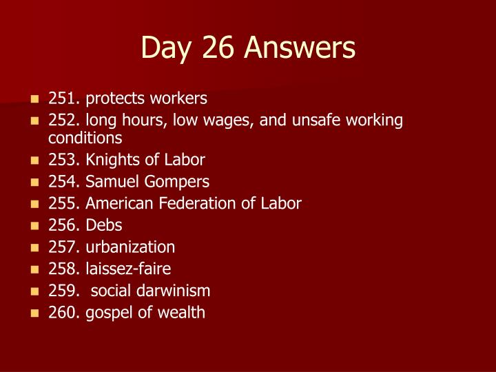 Day 26 Answers