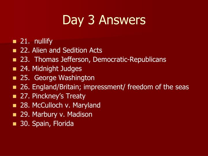 Day 3 Answers