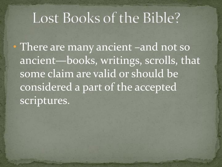 Lost Books of the Bible?