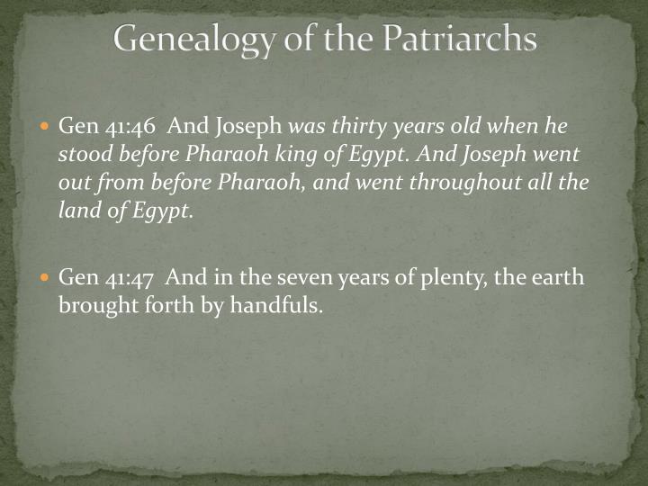 Genealogy of the Patriarchs