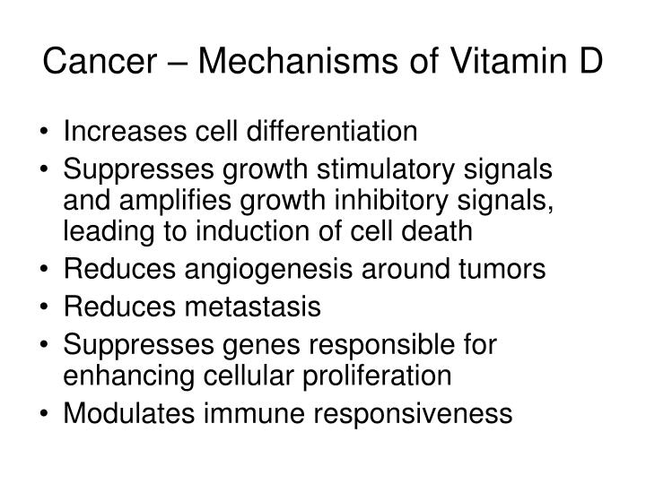 Cancer – Mechanisms of Vitamin D