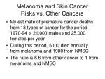 melanoma and skin cancer risks vs other cancers