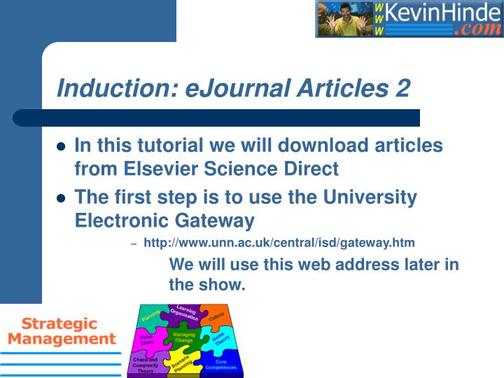 Induction: eJournal Articles 2