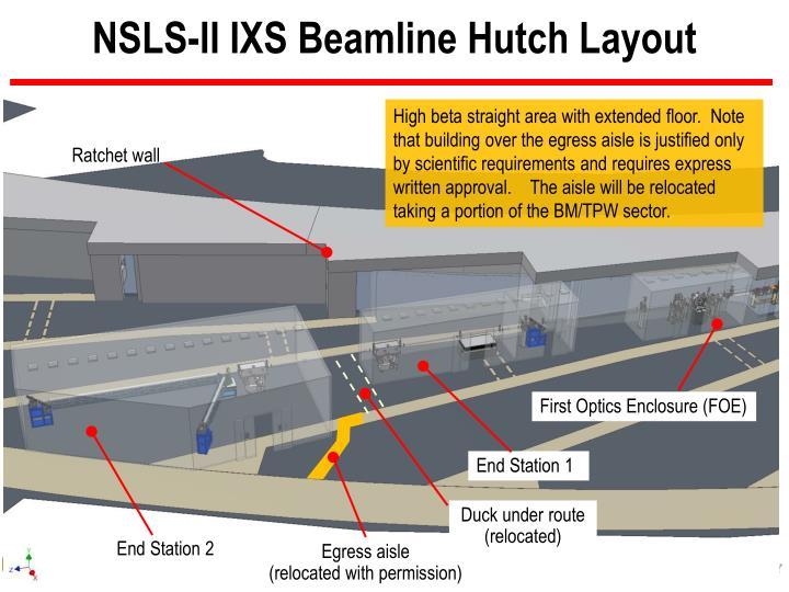 NSLS-II IXS Beamline Hutch Layout