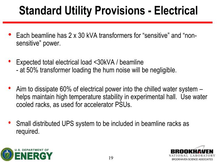 Standard Utility Provisions - Electrical