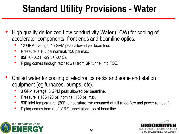 Standard Utility Provisions - Water